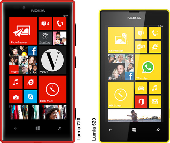 Nokia Lumia 720 and Lumia 520 Windows Phone 8 smartphones unveiled